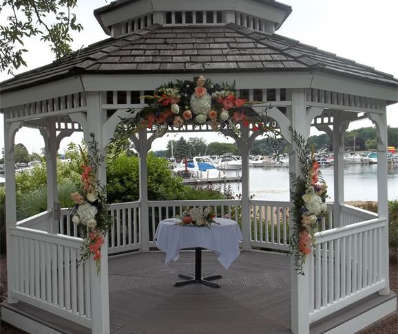 gazebo with flower decor