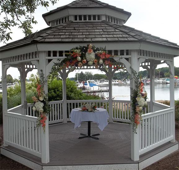 gazebo with flower decor