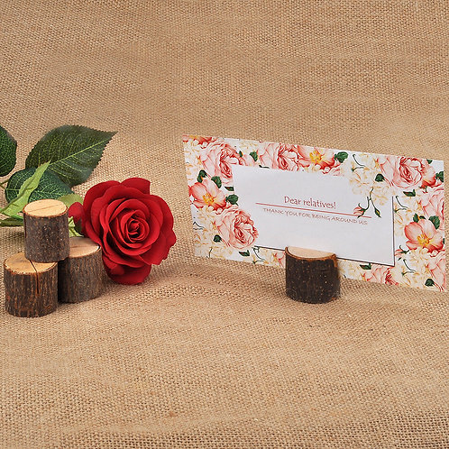 Rustic Log Name Holders x 50 pieces