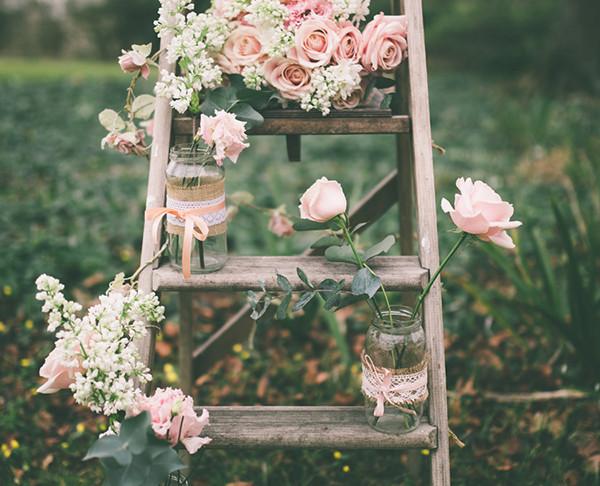 Rustic Floral Ladder