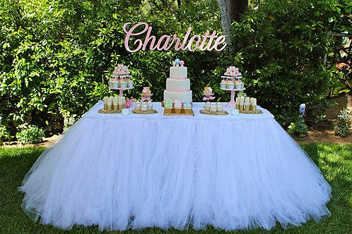 Table with Tulle/ Tutu table skirt