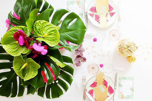 Artificial Leaf Table Decor