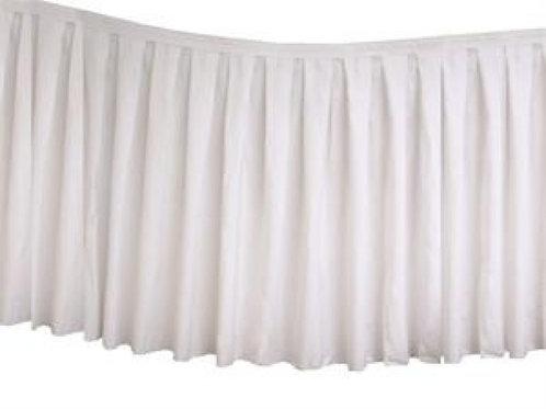Table Skirting Polyester 4.3m - White