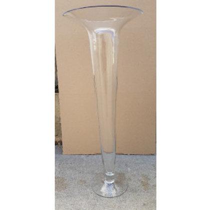 Glass Fluted Vase
