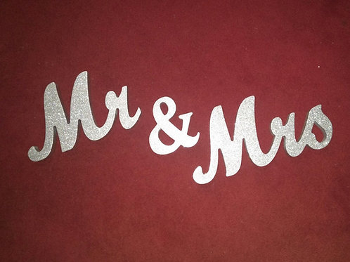 Silver Mr & Mrs