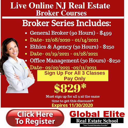 Broker Package Deal-Take All 3 Classes-Online