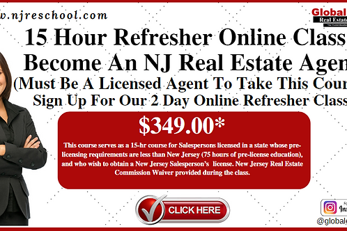 15 HOUR ONLINE REFRESHER DAY COURSE, M & W, 9 AM - 5 PM (PA,NY& FL)