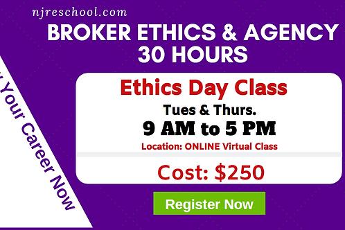 Ethics & Agency Broker Class (30 Hours) - Online