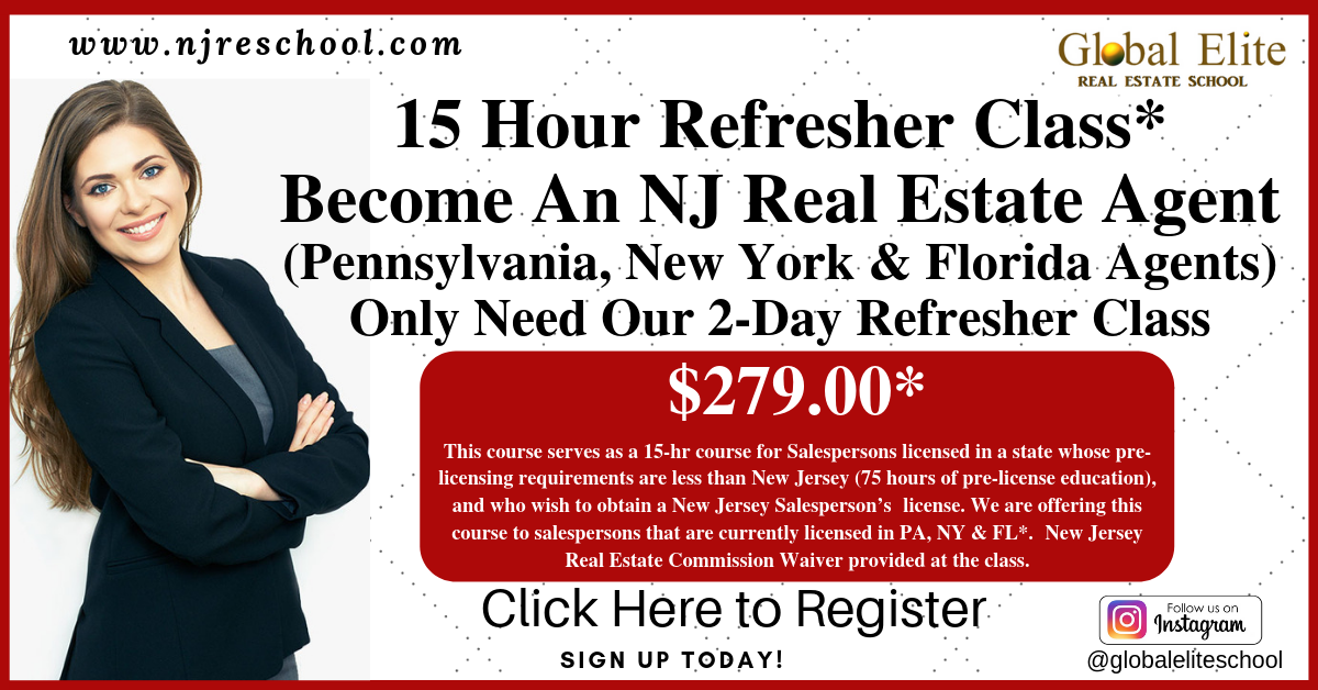 Pa Ny Fl 15 Hour Course Global Elite Real Estate School 08081