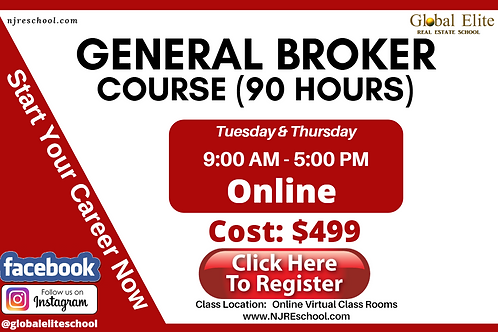 General Broker Day (90 Hours) - Online Virtual Class