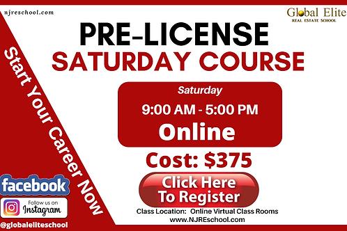 NJ Pre-Licensing Online Real Estate Saturday Classes