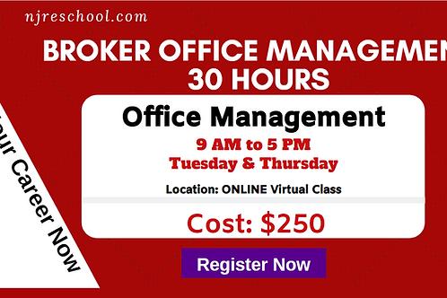 Broker Office Management (30 Hours) Online