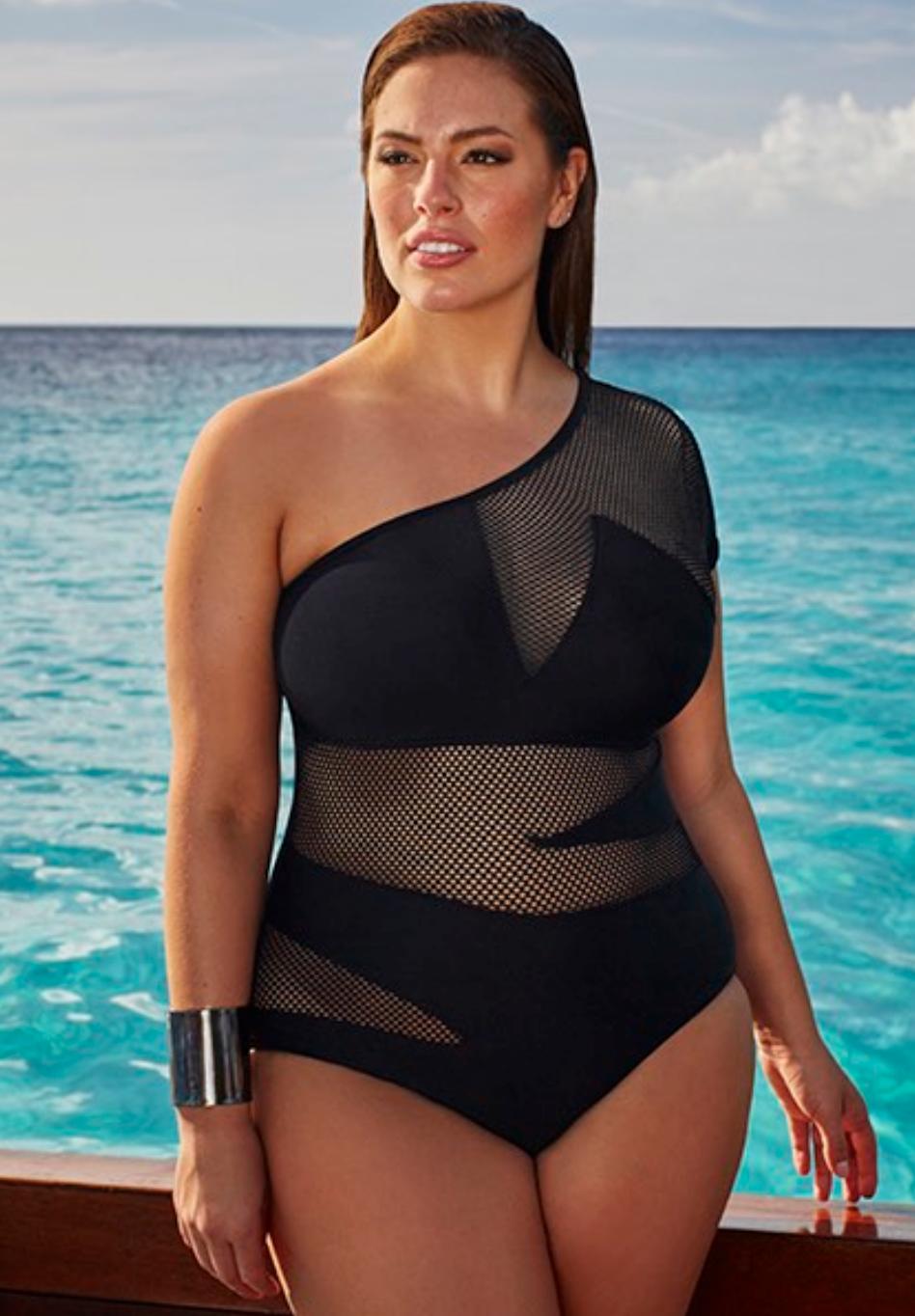 Ashley Graham x swimsuitsforall, Spy Swimsuit 109$
