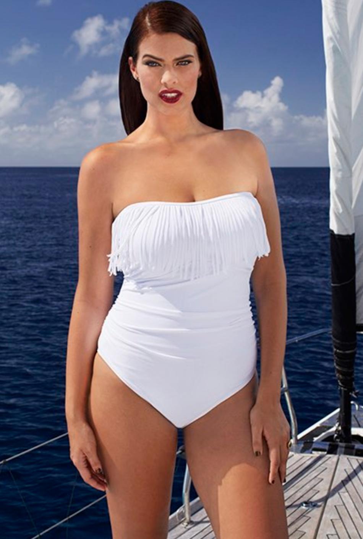 Tropiculture Blanco Fringe Bandeau Swimsuit 50.40$