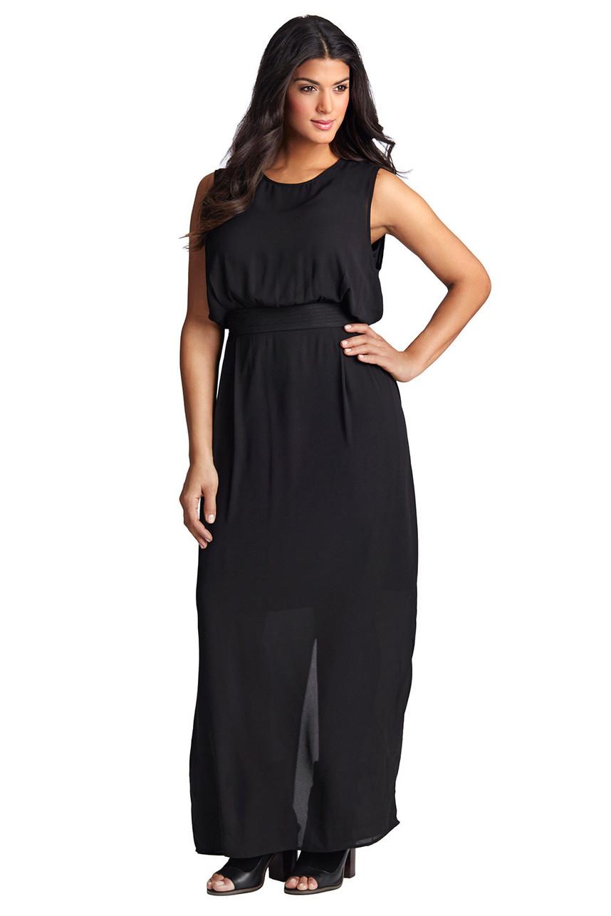 Classy black maxi dress by Mint 1792