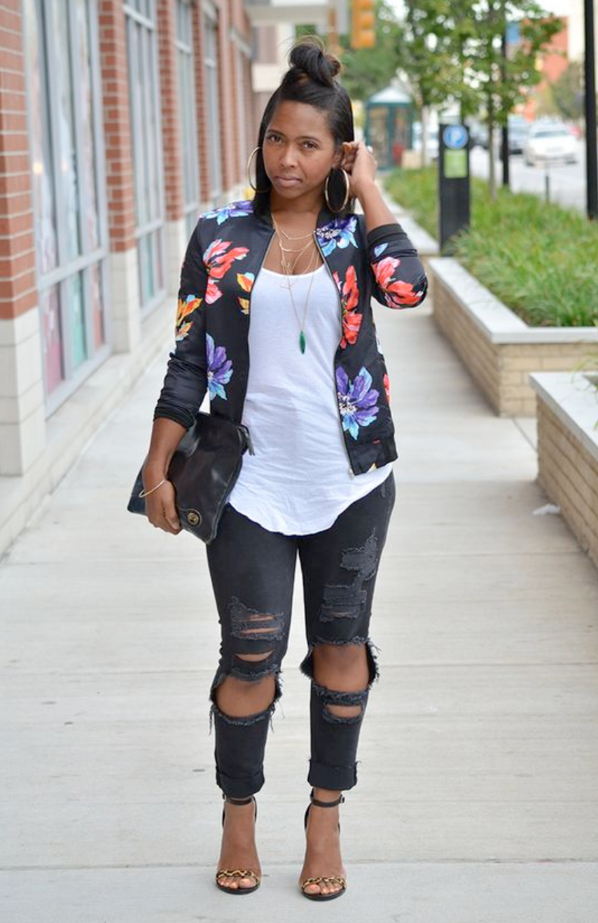 How to wear the Bomber jacket plus size style