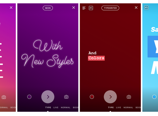 """Instagram Launches """"Type"""" Mode for Stories"""
