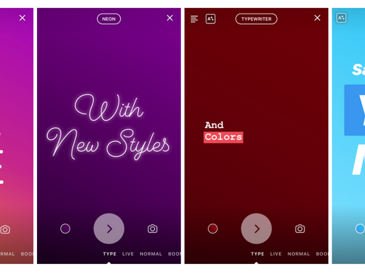"Instagram Launches ""Type"" Mode for Stories"