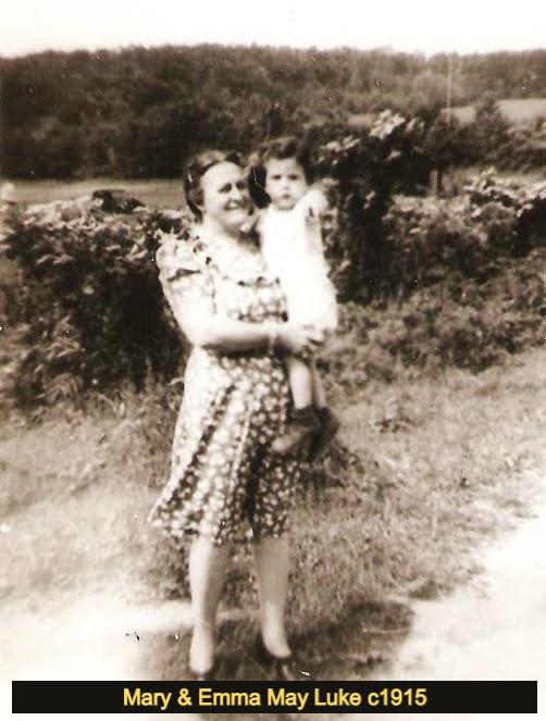 Mary (McElwain) Luke holding baby Emma May, c1916-17