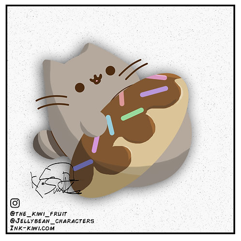 Jelly Bean Pusheen (Donut)