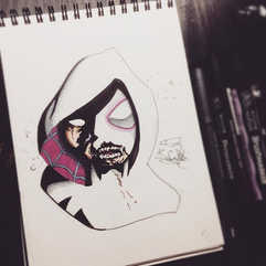 Zombie Spider-Gwen •_🎩COMMISSIONS OPEN?