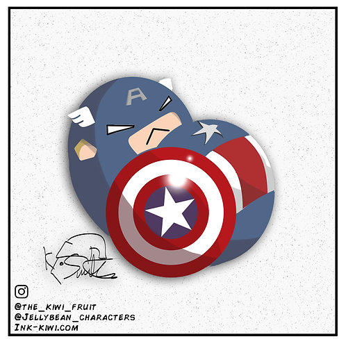 Jelly Bean Captain America (Civil War)