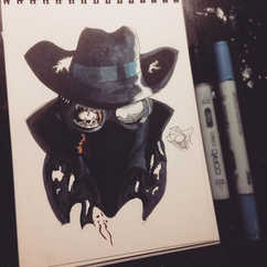 Zombie Spider-Noir_•_🎩COMMISSIONS OPEN?