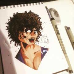 A lil doodle of Zombie Domino⠀_•⠀_#inkki