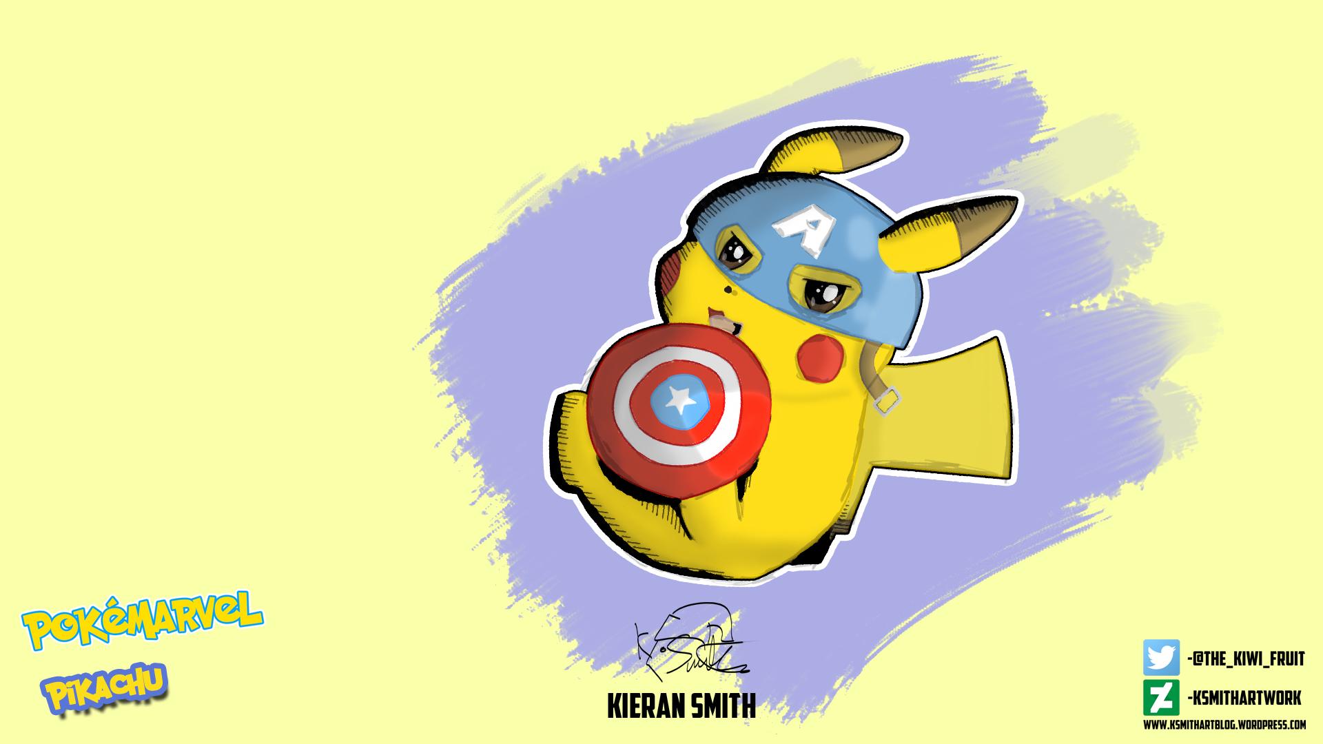 Captain America Pikachu Final