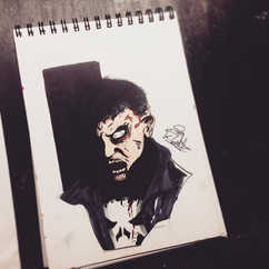 Quick doodle of Zombie Punisher_•_🎩COMM