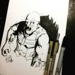Zombie Thanos... or Morning Thanos_ No,