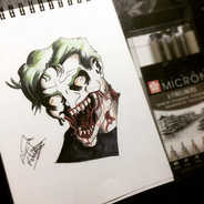 The Joker as a zombie is actually quite