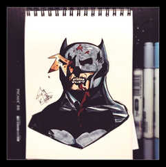 Woop! Zombie Batman to finish off the zo