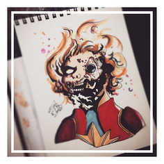 Here's a better Zombie Captain Marvel, t