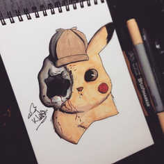 So I saw that Detective Pikachu trailer