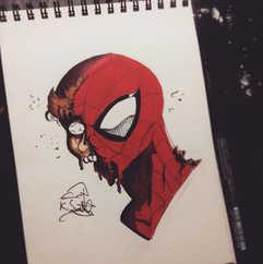DAY 22 - #inktober Zombie Spider-Man •_?