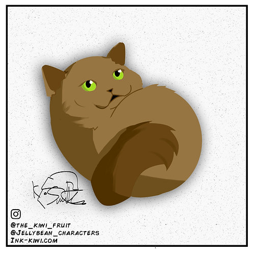 Jelly Bean Brown Cat