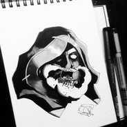 DAY 19 - #inktober Zombie King Rhoam •_?