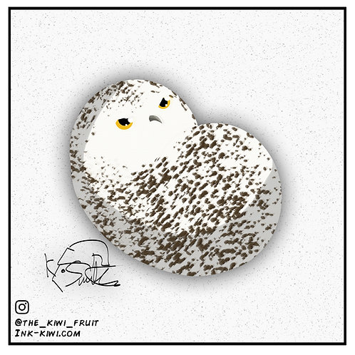 Jelly Bean Snowy Owl