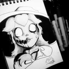 DAY 10 - #inktober Zombie Princess Peach