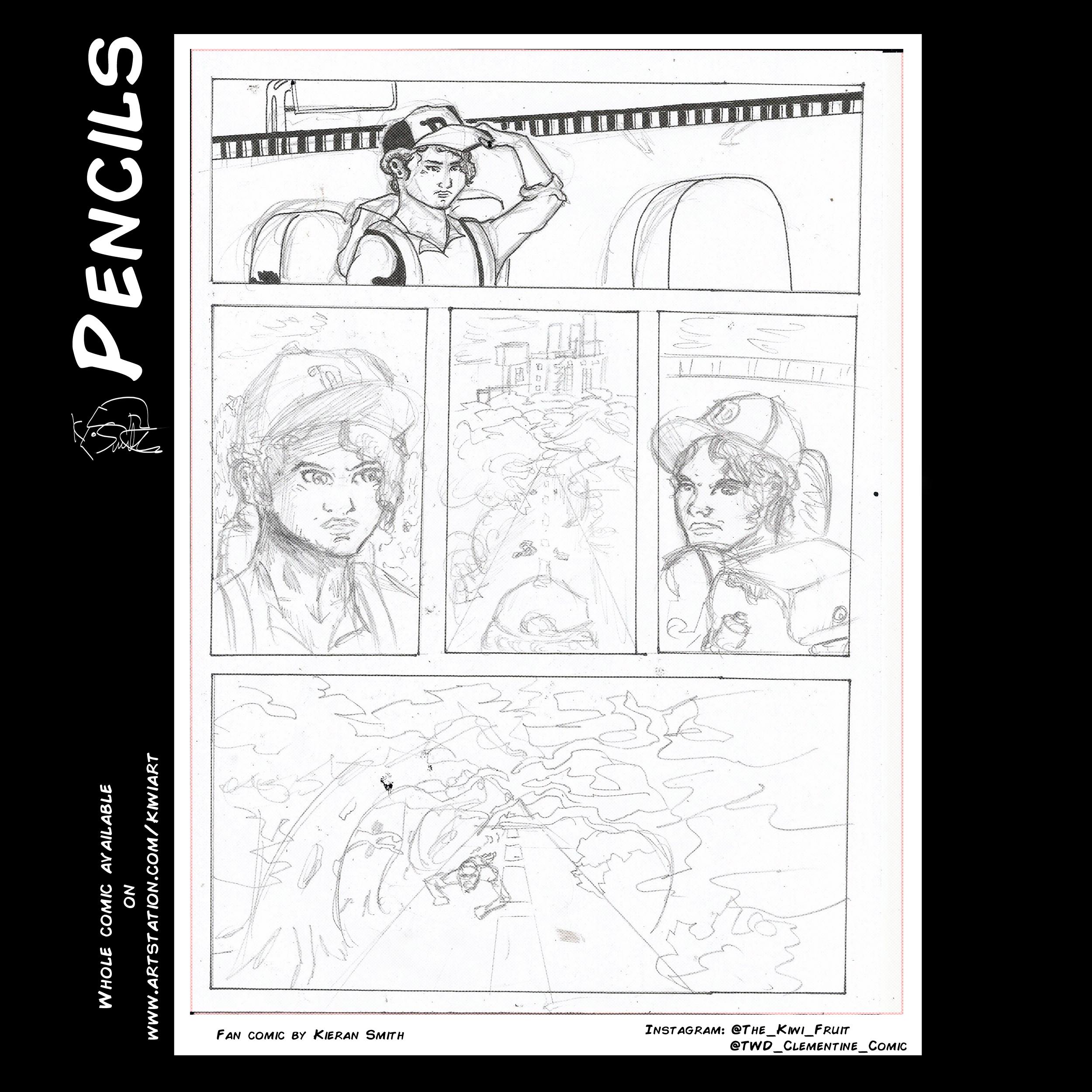 Walking Dead Clementine Page 23 Pencils