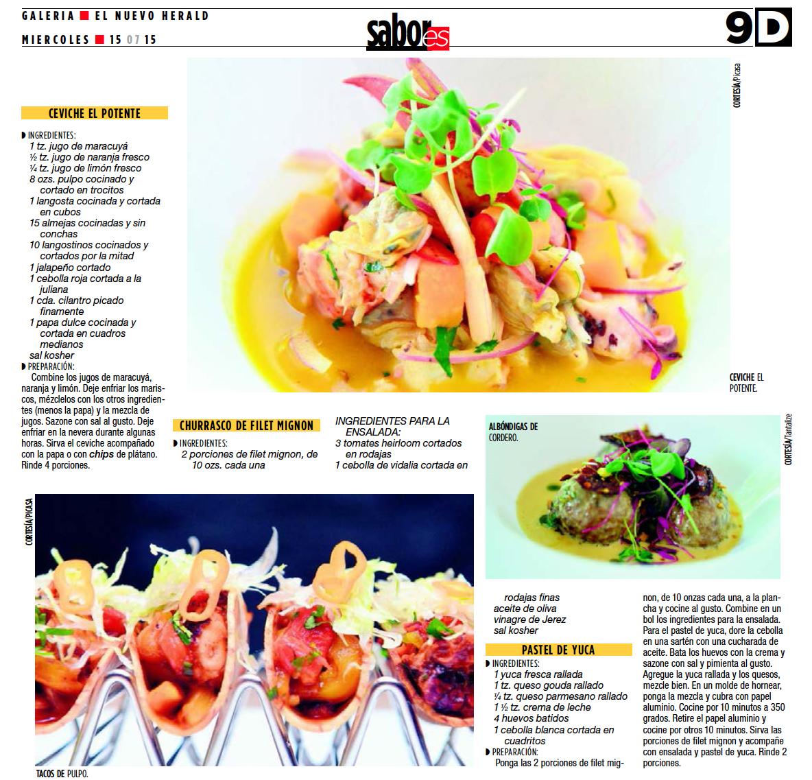 Sabores El Nuevo Herald