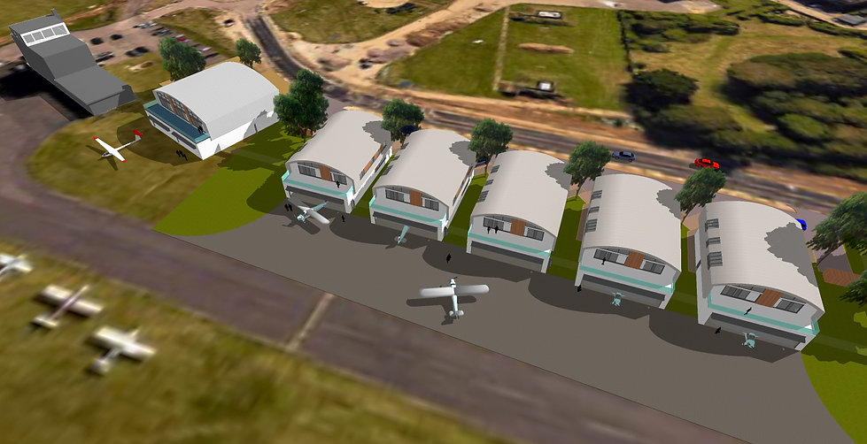 Aeriel view of Hanger Homes Project