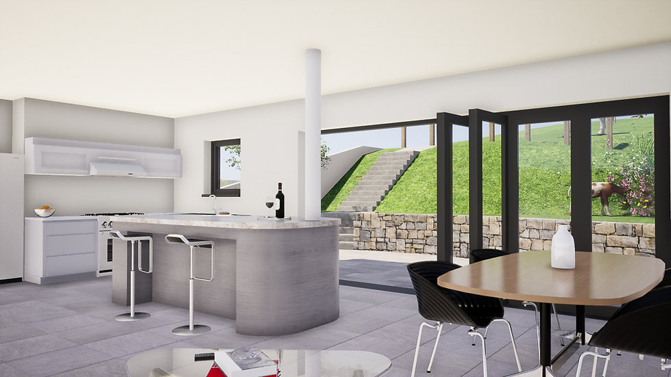 Architectural Visual of Open Plan Interior