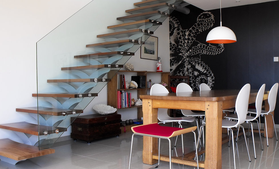 Bespoke Steel, Timber and Glass Staircase - MTA Architects Hampshire