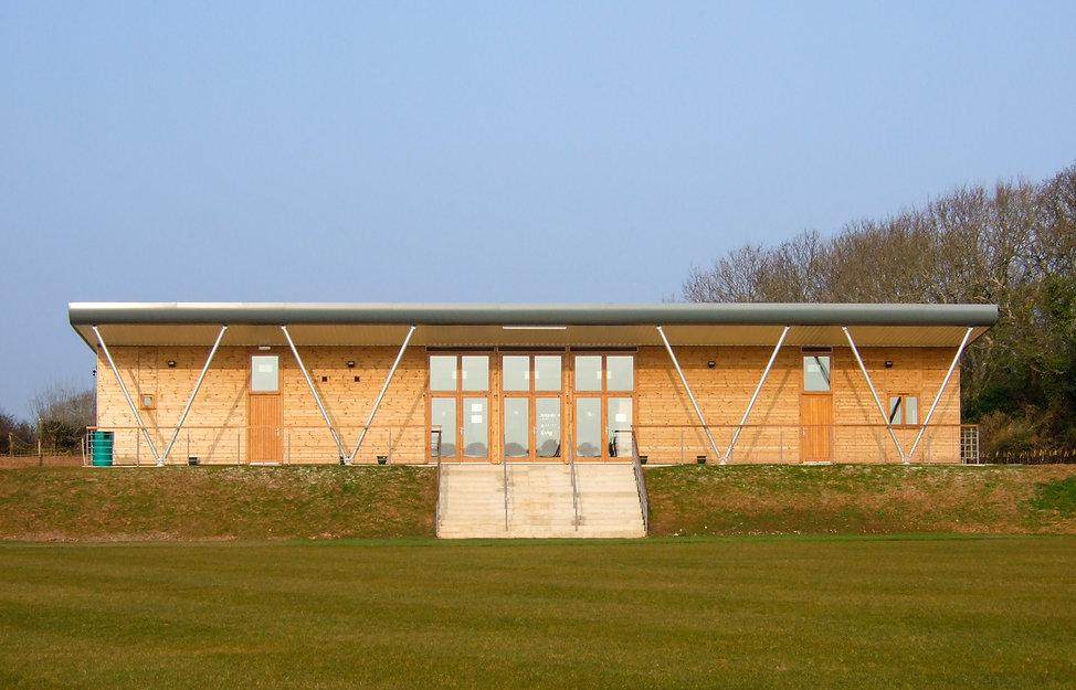 Front Elevaton of Brixham Cricket Club Pavilion, Designed by Brixham Architects