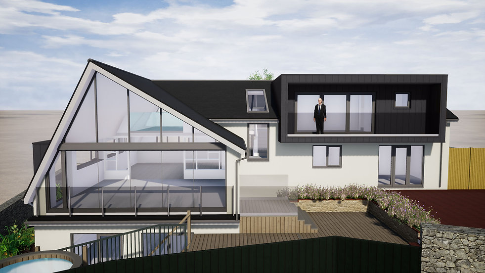 Architectural Visual of Proposed Sea View Property in Brixham