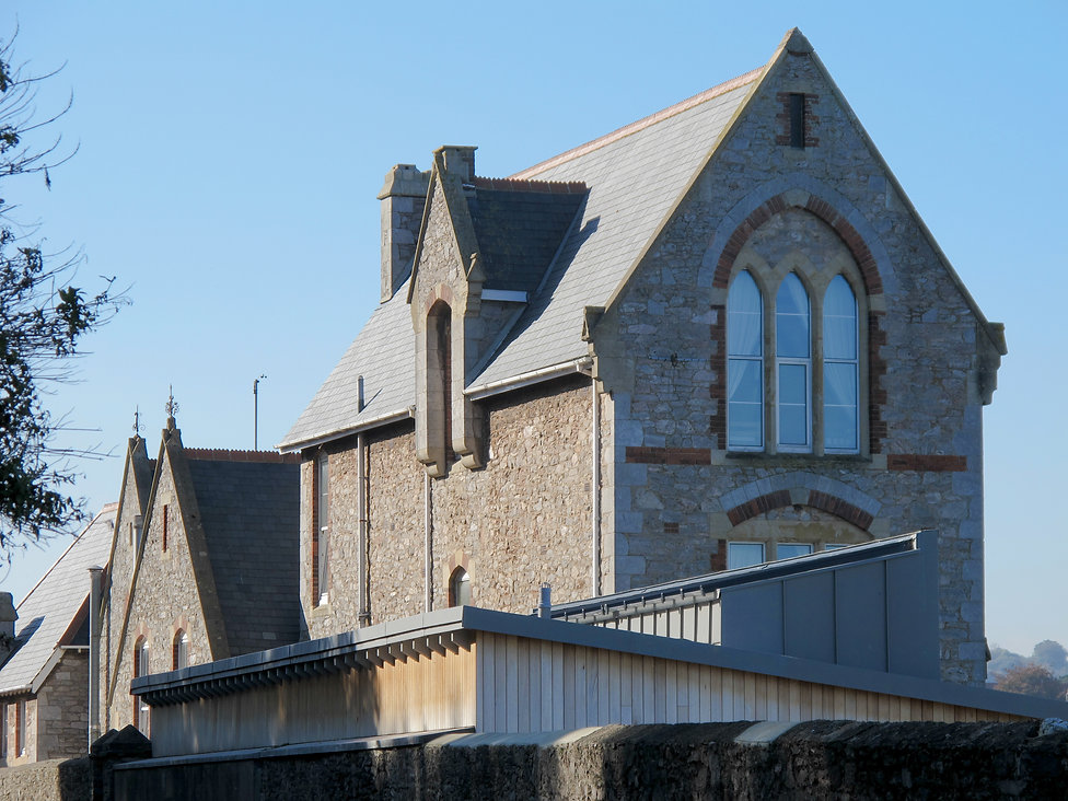 Roof of Grenville Houses New Changing Facilities near Brixham Harbour