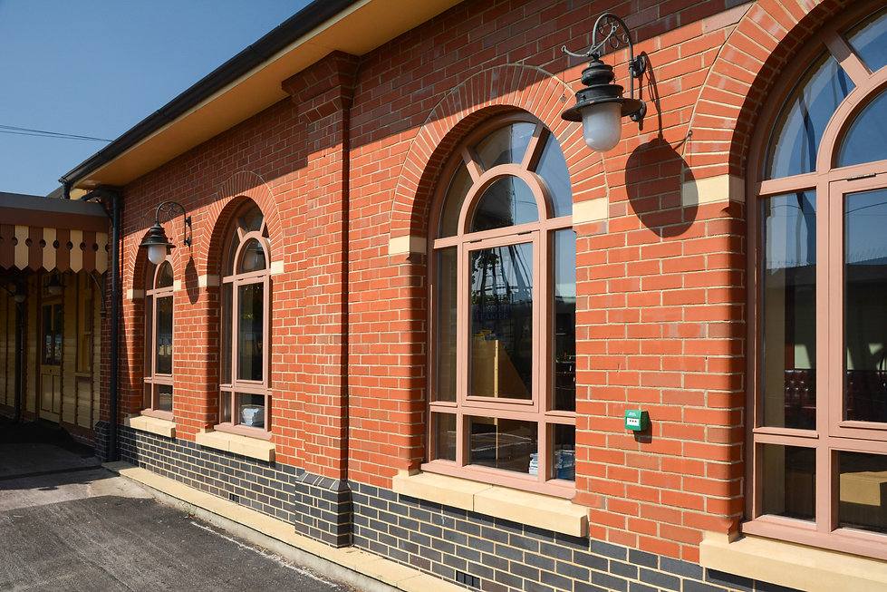 Victorian Architectural Detailing at Paignton Steam Railway Station Commercial Development