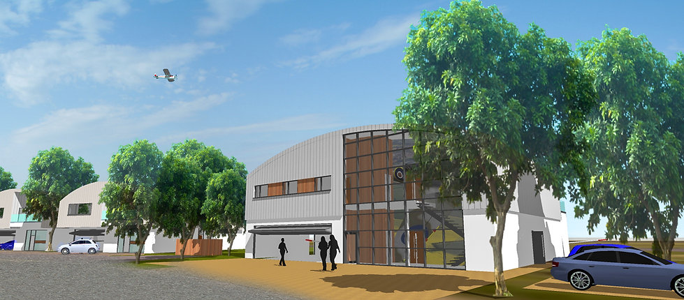 Architectural Visual of Heritage Hanger Designed by MTA Chartered Architects Devon